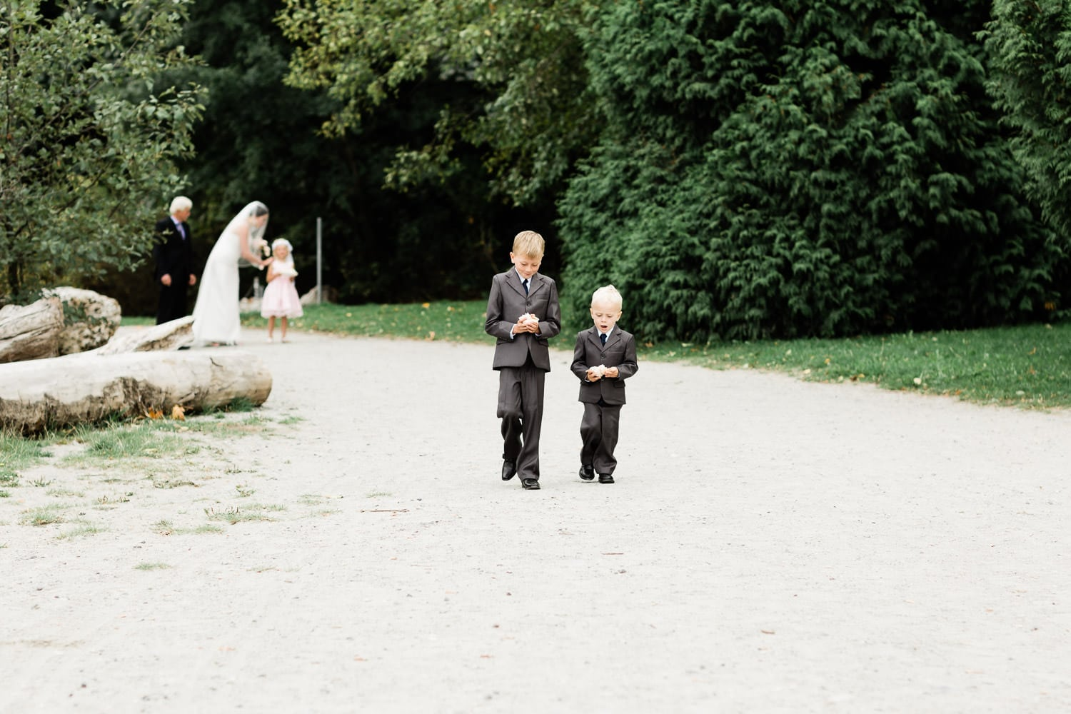 Ring bearer boys, Wedding ceremony on Spanish banks | Vancouver wedding photographer