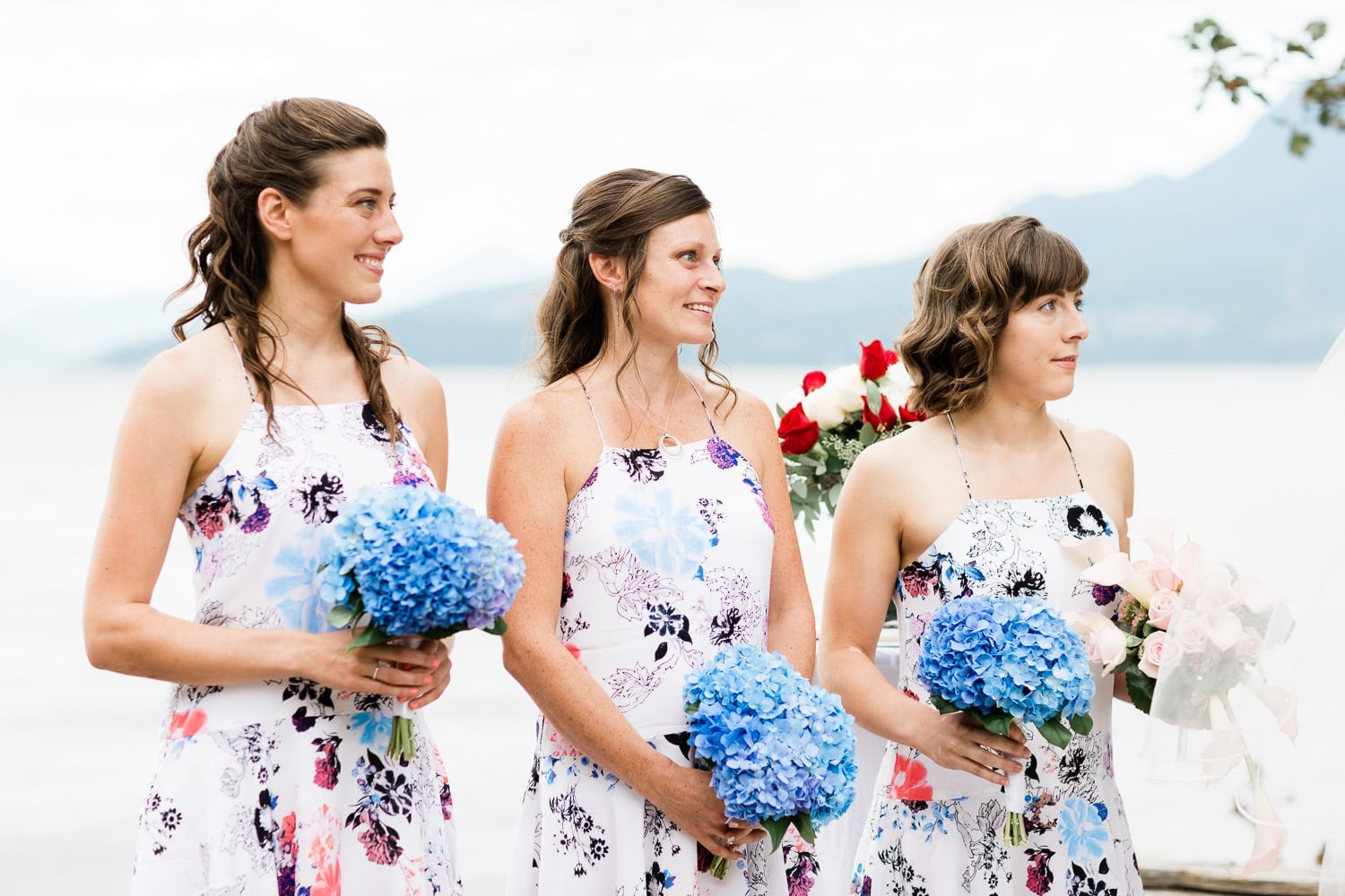 brides mates, wedding ceremony on Spanish banks | Vancouver wedding photographer