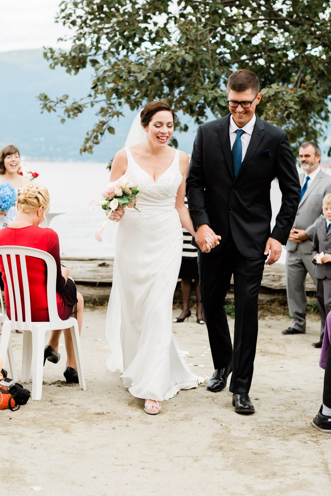Wedding ceremony on Spanish banks | Vancouver wedding photographer