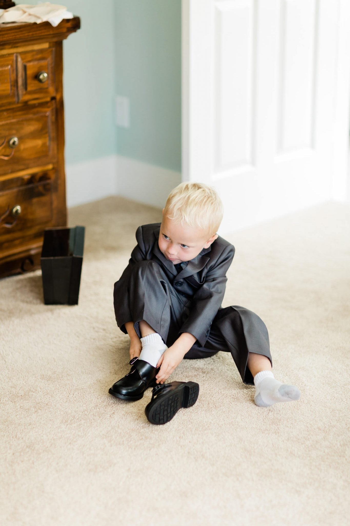 Little boy getting ready for a wedding | Vancouver wedding photographer