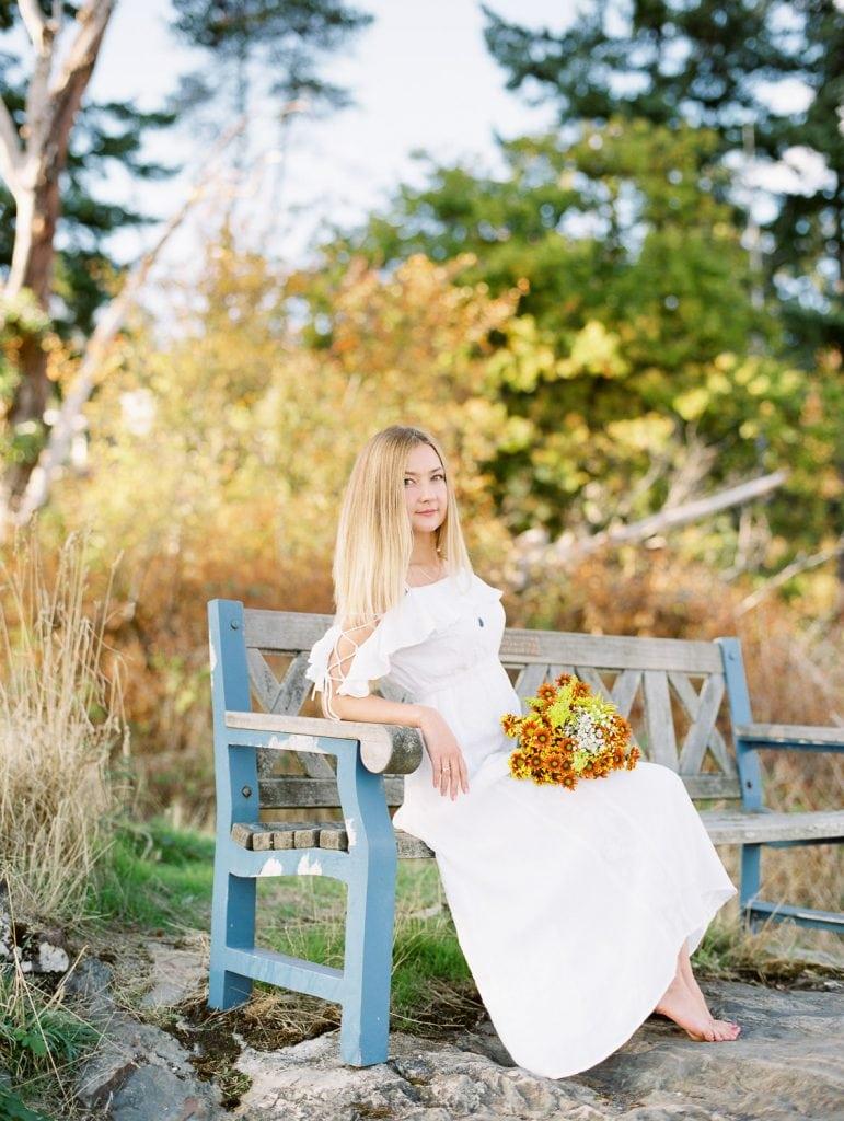 Girl in white dress portrait   Vancouver fine art photographer