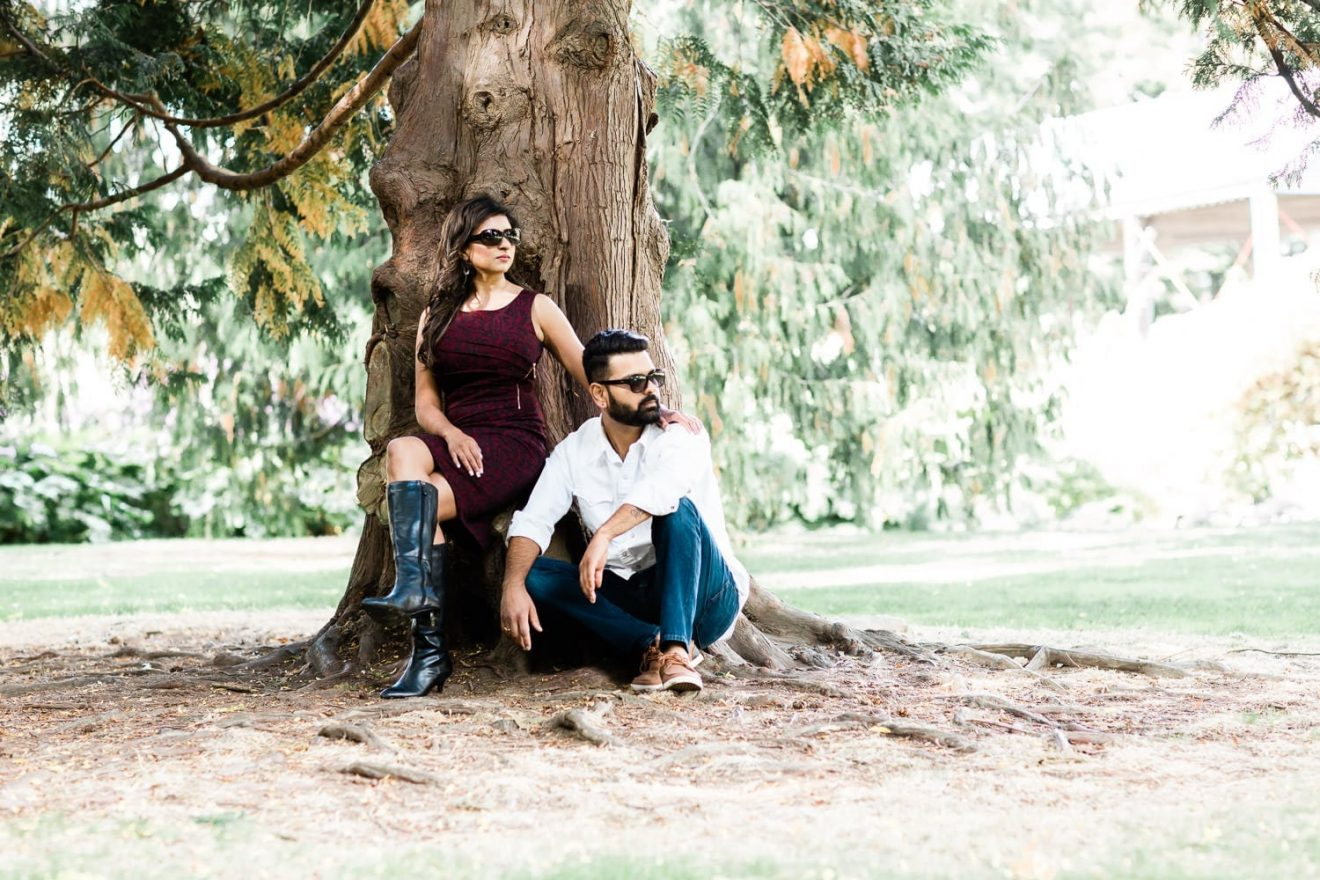 Indian couple engagement photo on Granville Island | Vancouver Indian wedding photographer | Engagements gallery