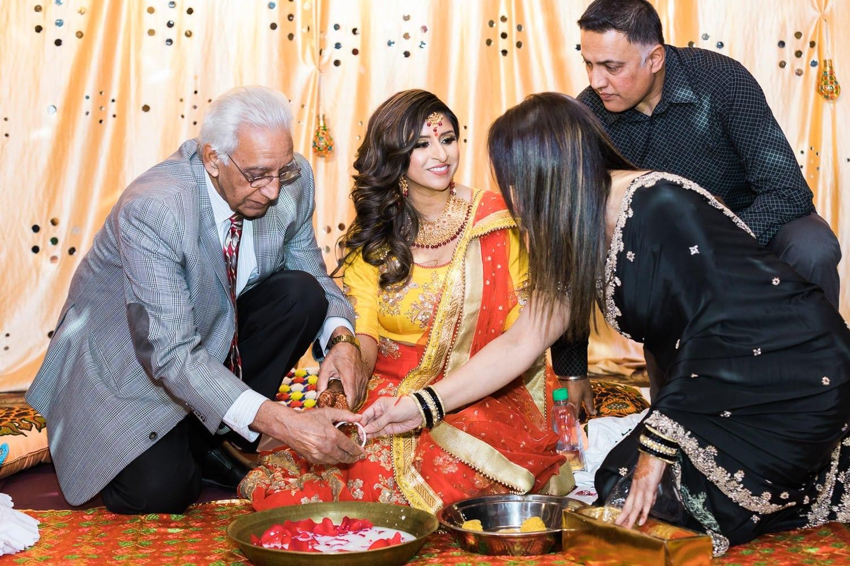 Maiya, chura and jaggo in Crown Palace Banquet Hall | Vancouver Indian wedding photographer
