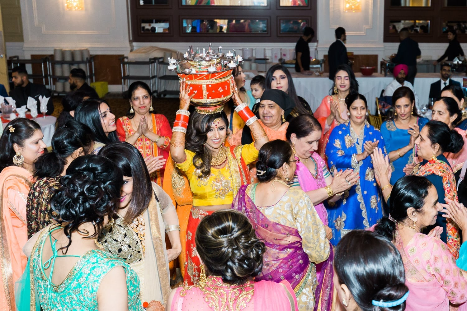 Chura and jaggo in Crown Palace Banquet Hall | Vancouver Indian wedding photographer