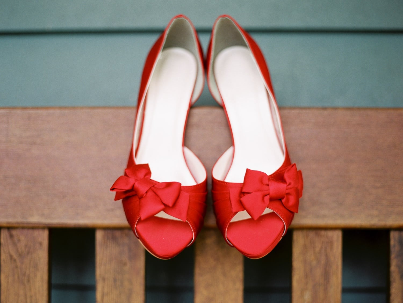 Wedding shoes, Fuji400h | Vancouver wedding photographer