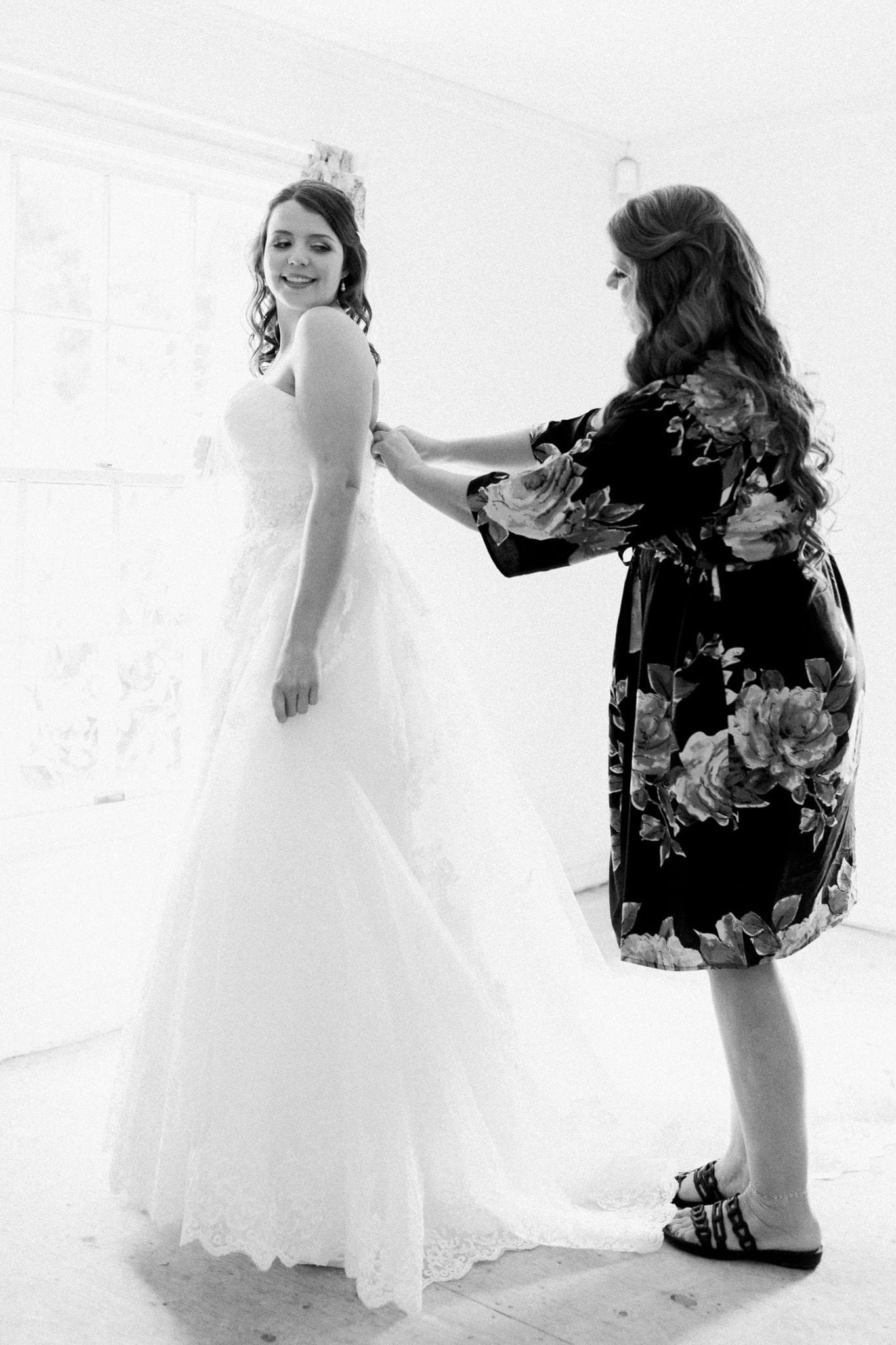 Bride and her mother in b/w | Vancouver wedding photographer