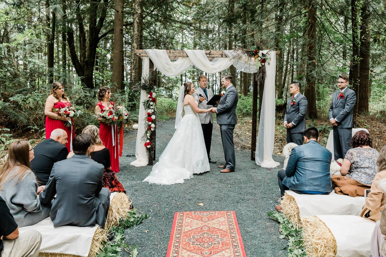 Rustic wedding ceremony photo in Langley | Vancouver wedding photographer