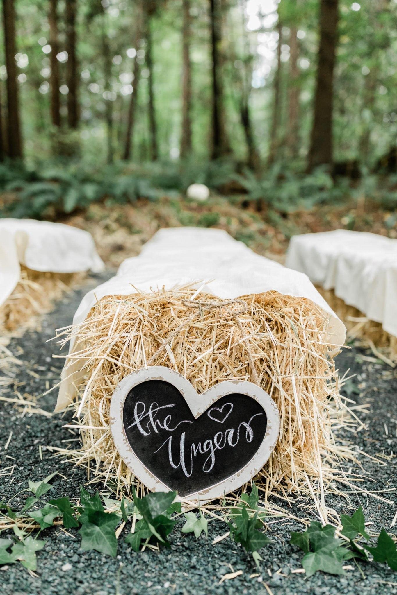 Wedding hay bale sitting | Vancouver wedding photographer