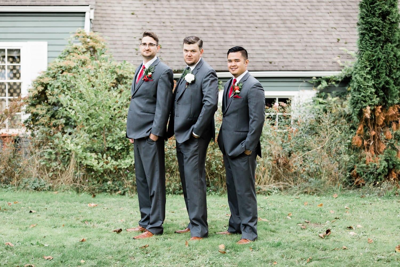Groomsmen posing | Vancouver wedding photographer
