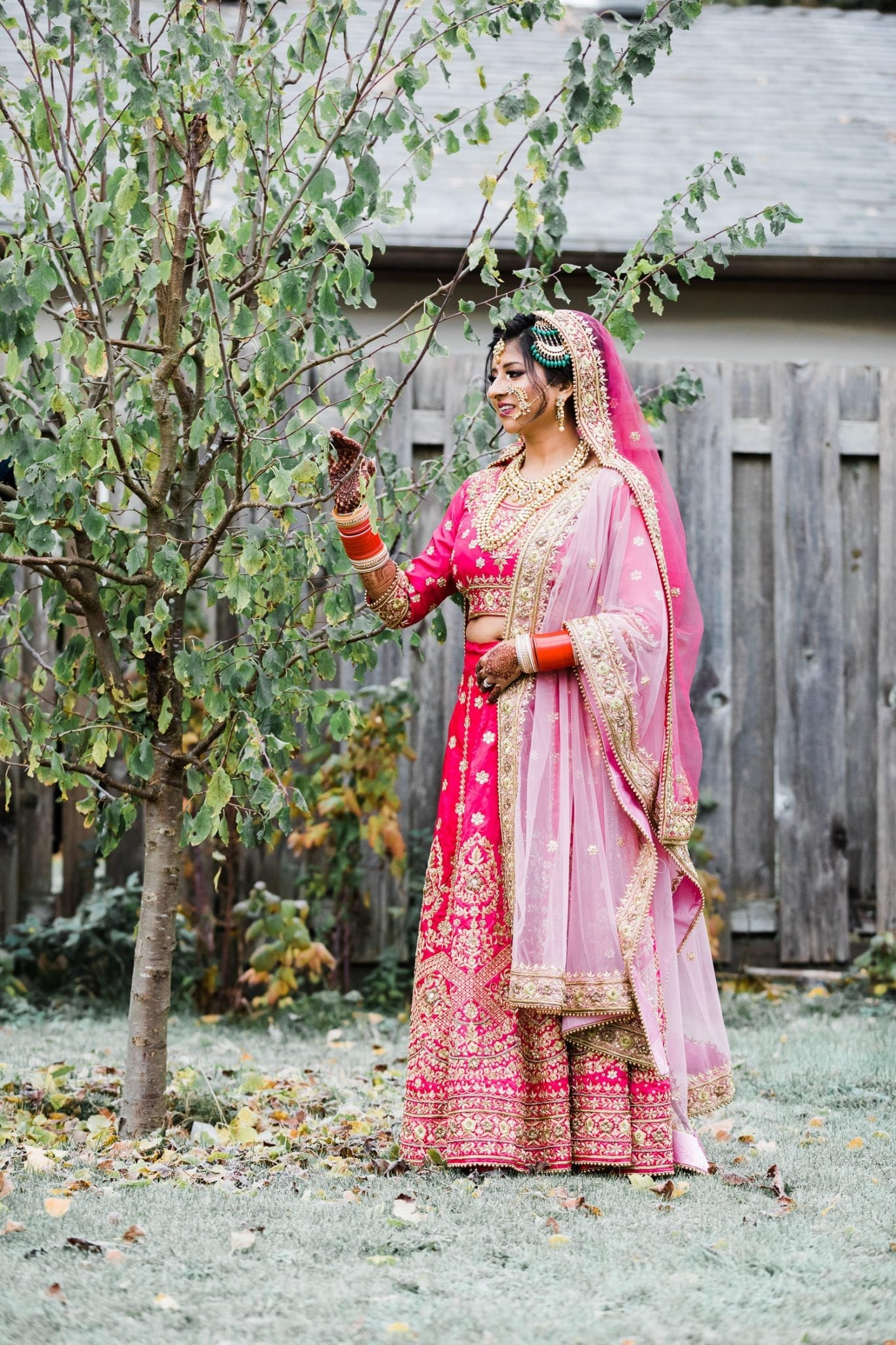Indian bride in her outfit | Indian wedding photography Vancouver