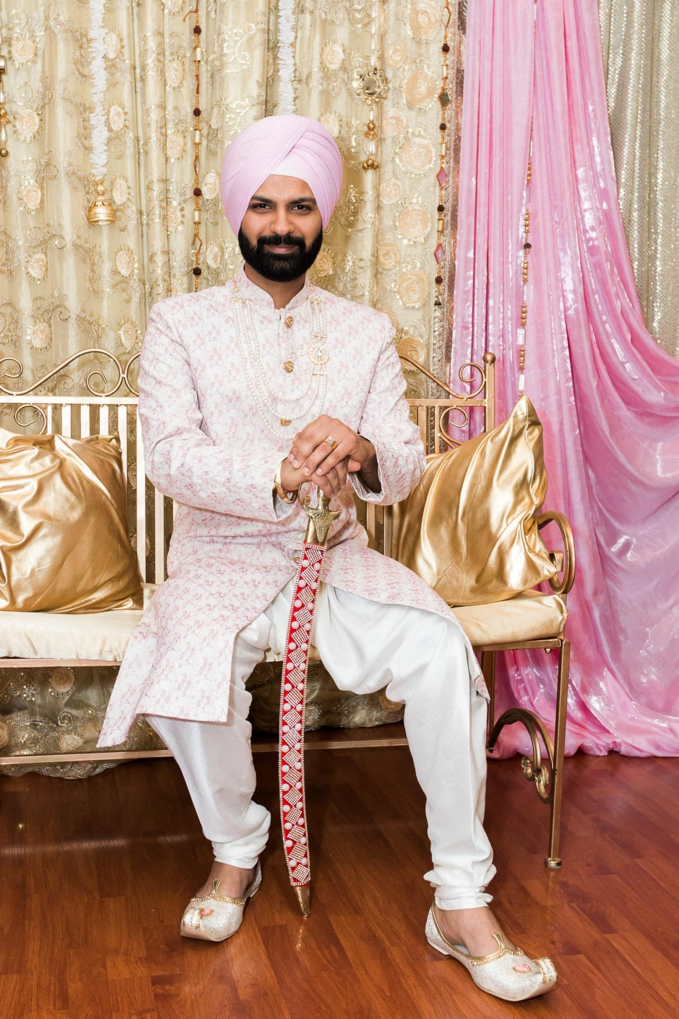 Indian groom during morning prep | Indian wedding photography Vancouver