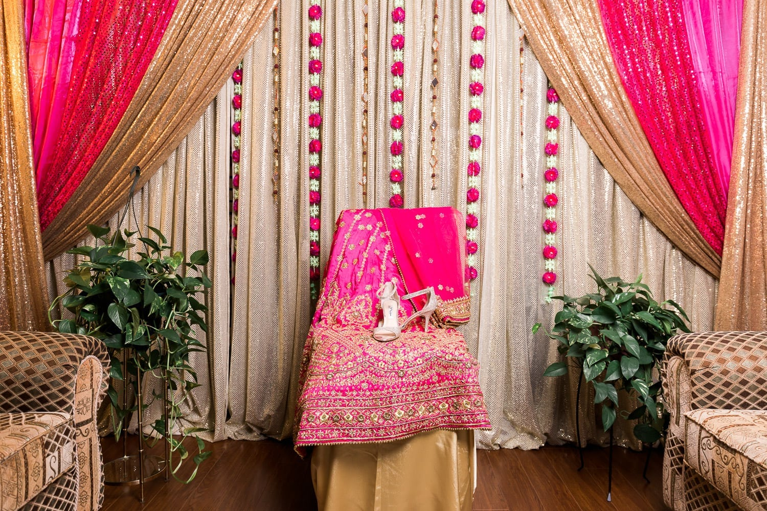 Indian bride wedding dress and shoes | Indian wedding photography Vancouver