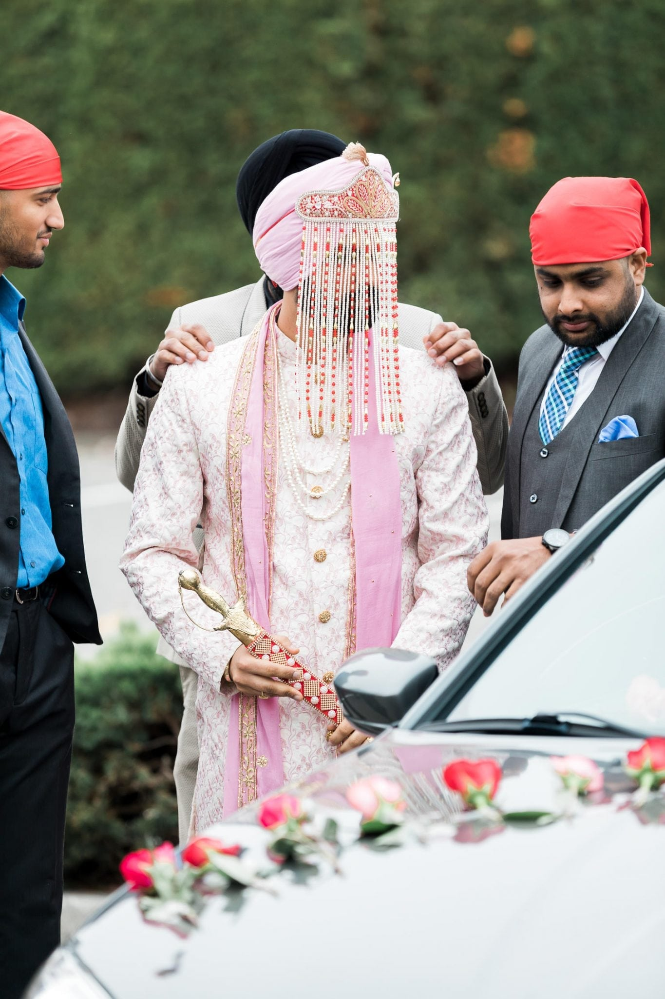 Indian groom before the temple entrance | Indian wedding photography Vancouver