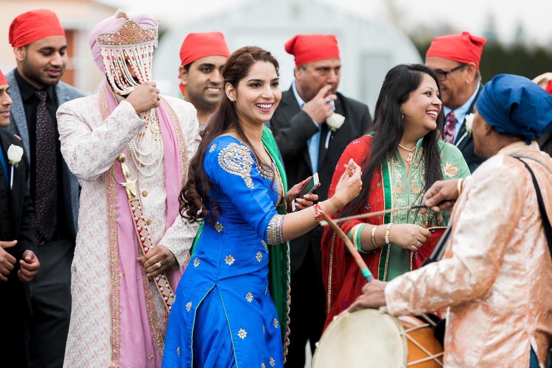 Indian wedding drummer performance | Indian wedding photography Vancouver