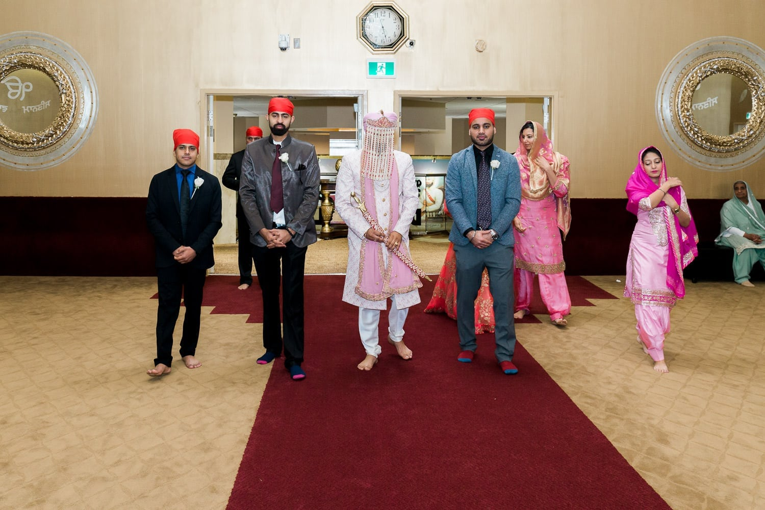 Indian groom entering the temple | Indian wedding photography Vancouver