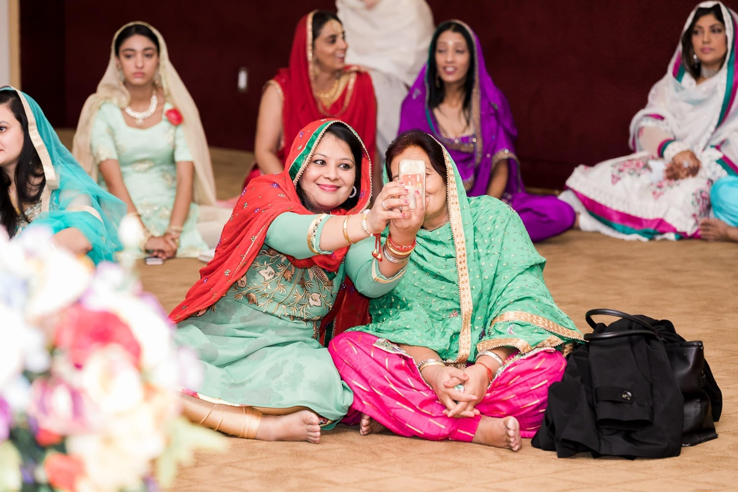 Indian wedding at the temple candid moments | Indian wedding photography Vancouver