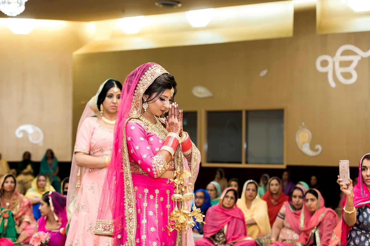Indian bride at the temple | Indian wedding photography Vancouver