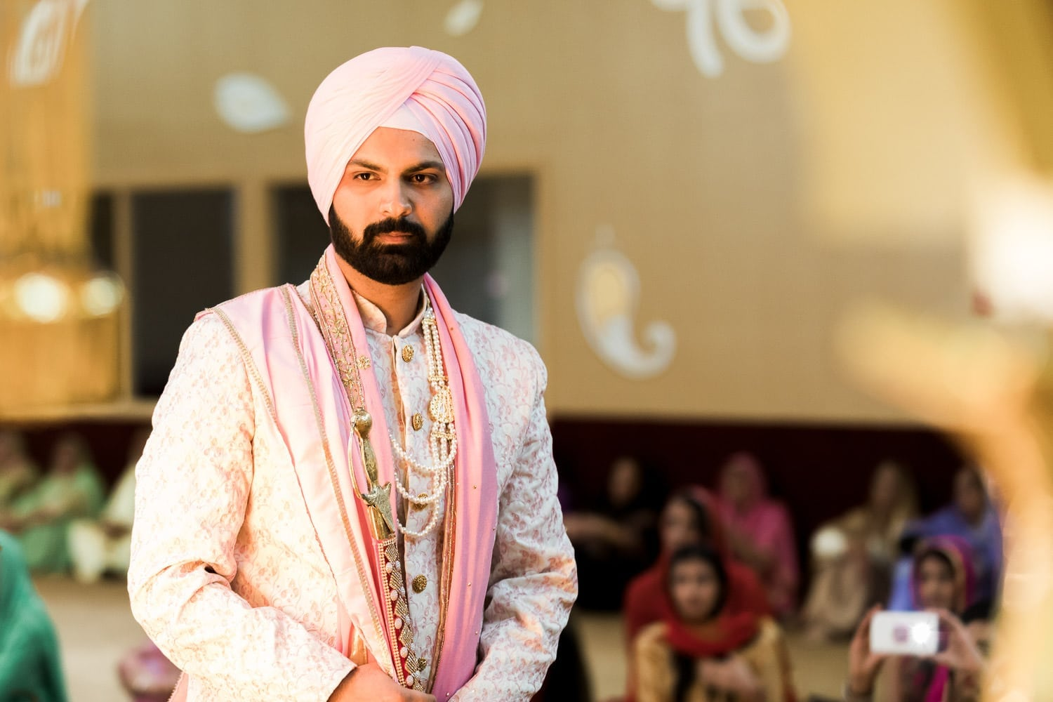 Indian groom at the temple | Indian wedding photography Vancouver