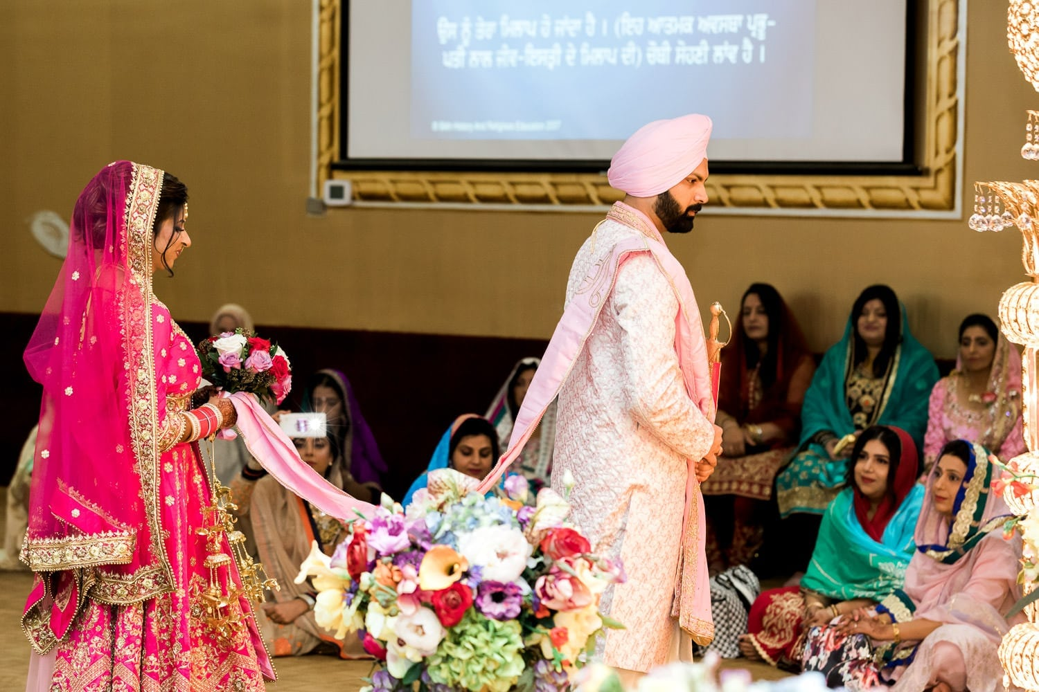 Indian wedding ceremony at the temple | Indian wedding photography Vancouver