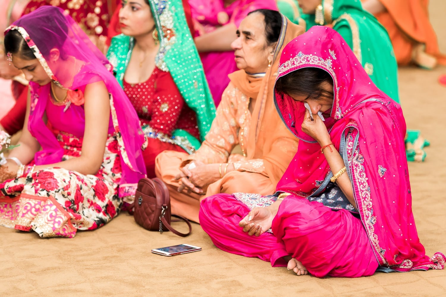 Candid moments during Indian wedding ceremony at the temple | Indian wedding photography Vancouver