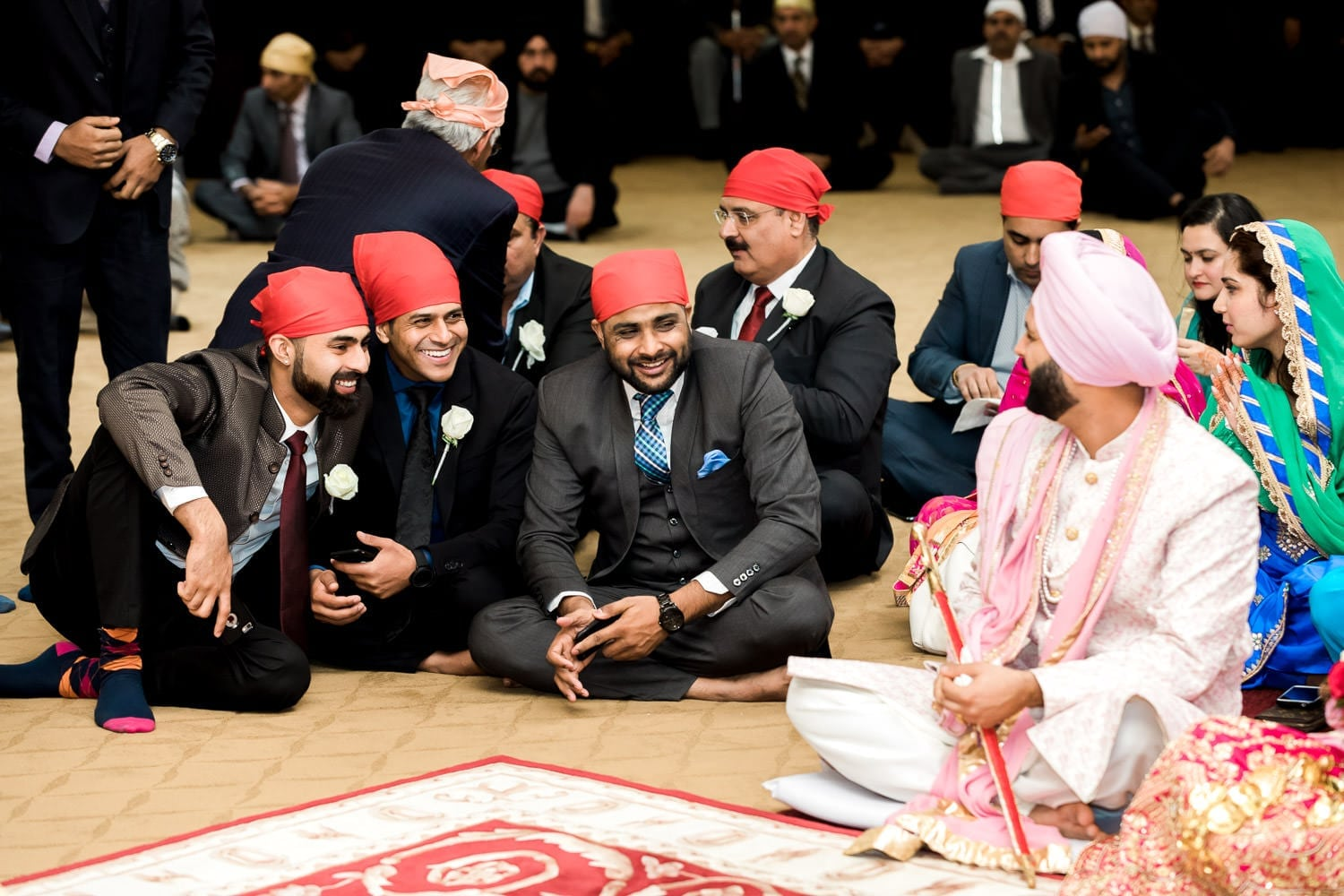 Indian groomsmen at the temple | Indian wedding photography Vancouver