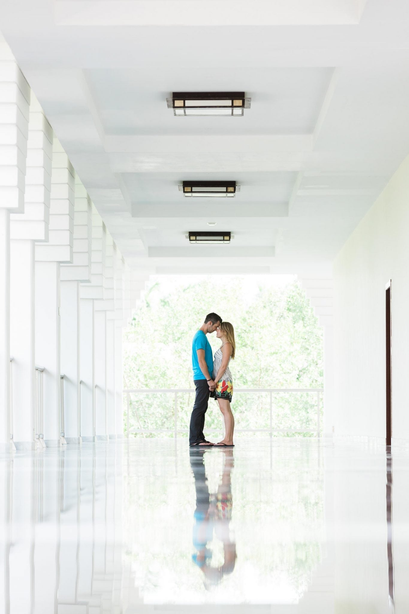 wedding picture of a couple in Sunset Princess resort, Mayan Riviera