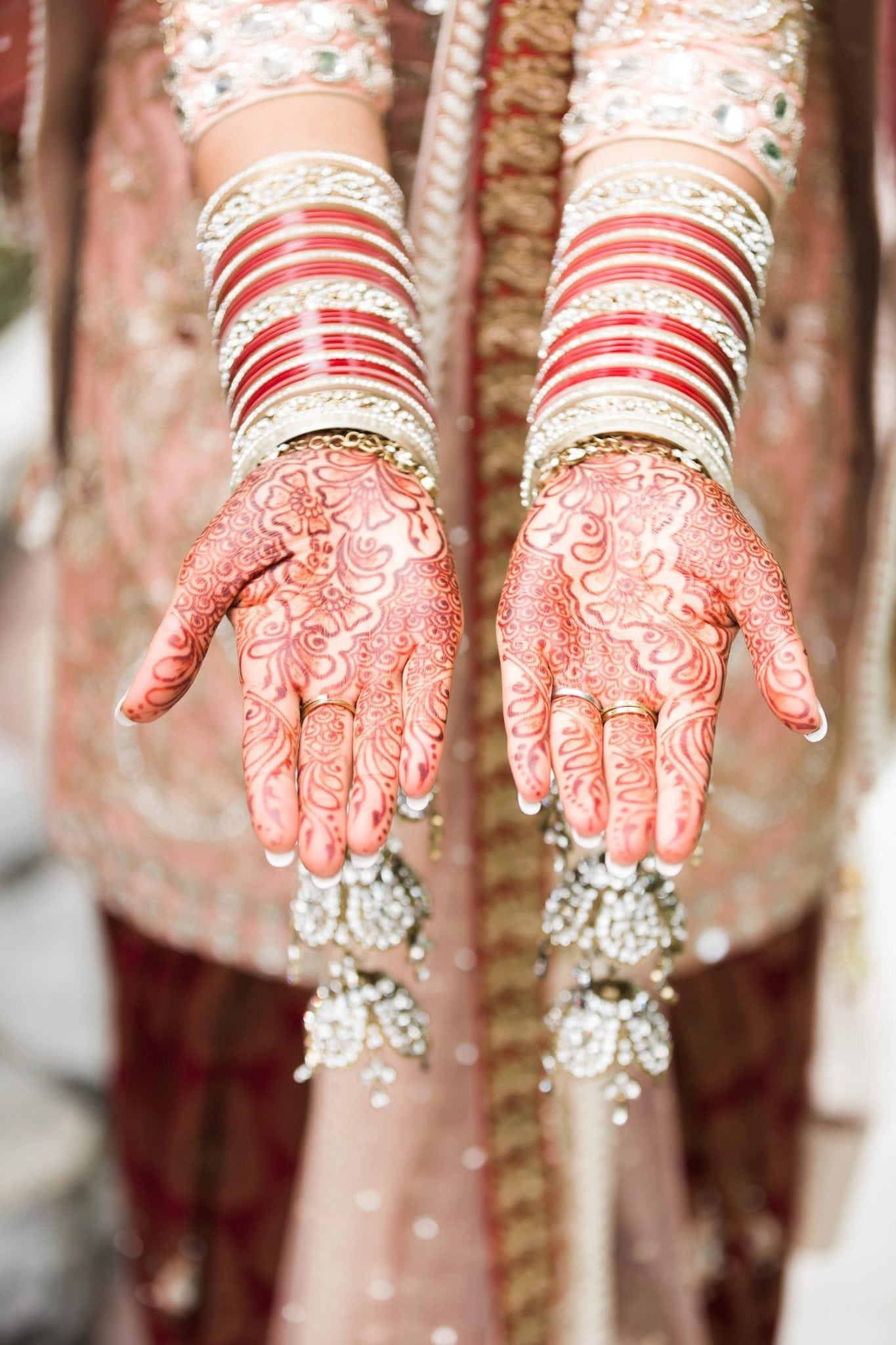 Indian brides hands with henna, Indian and Norwegian wedding | Vancouver Indian wedding photographer