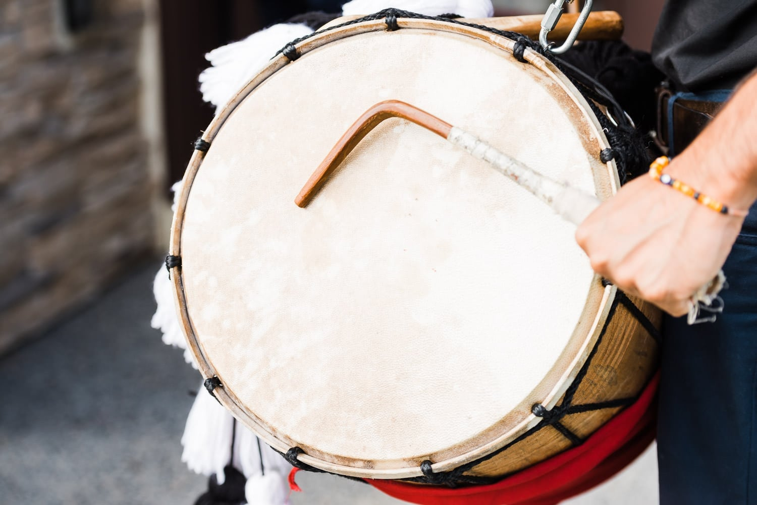 Drummer at the Indian wedding | Vancouver Indian wedding photographer