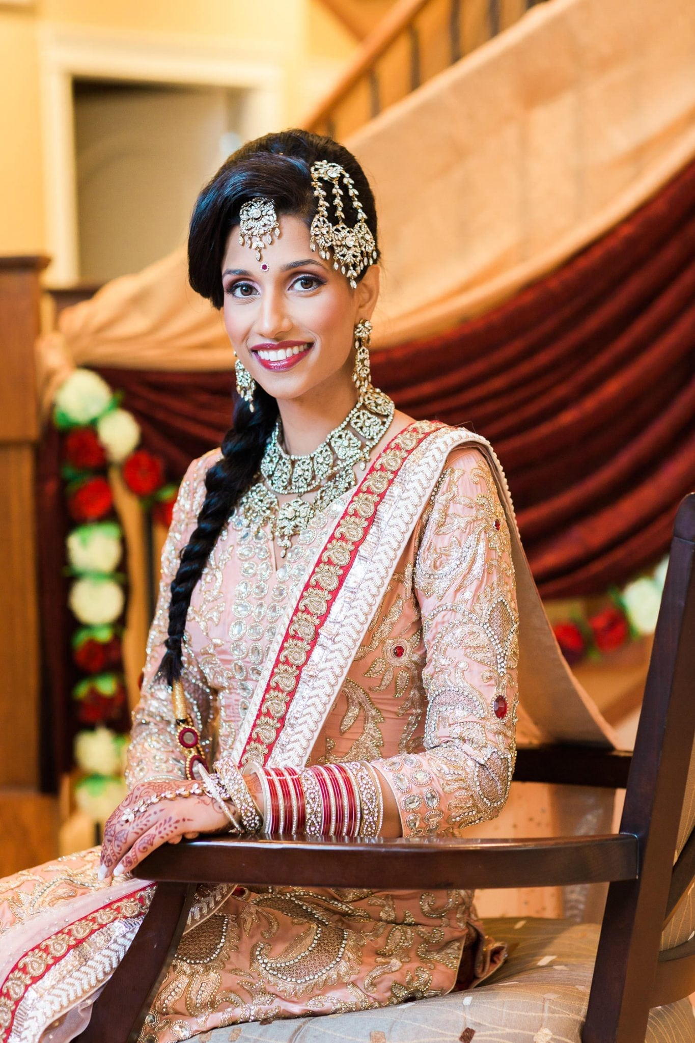 Indian bride getting ready for wedding | Vancouver Indian wedding photographer