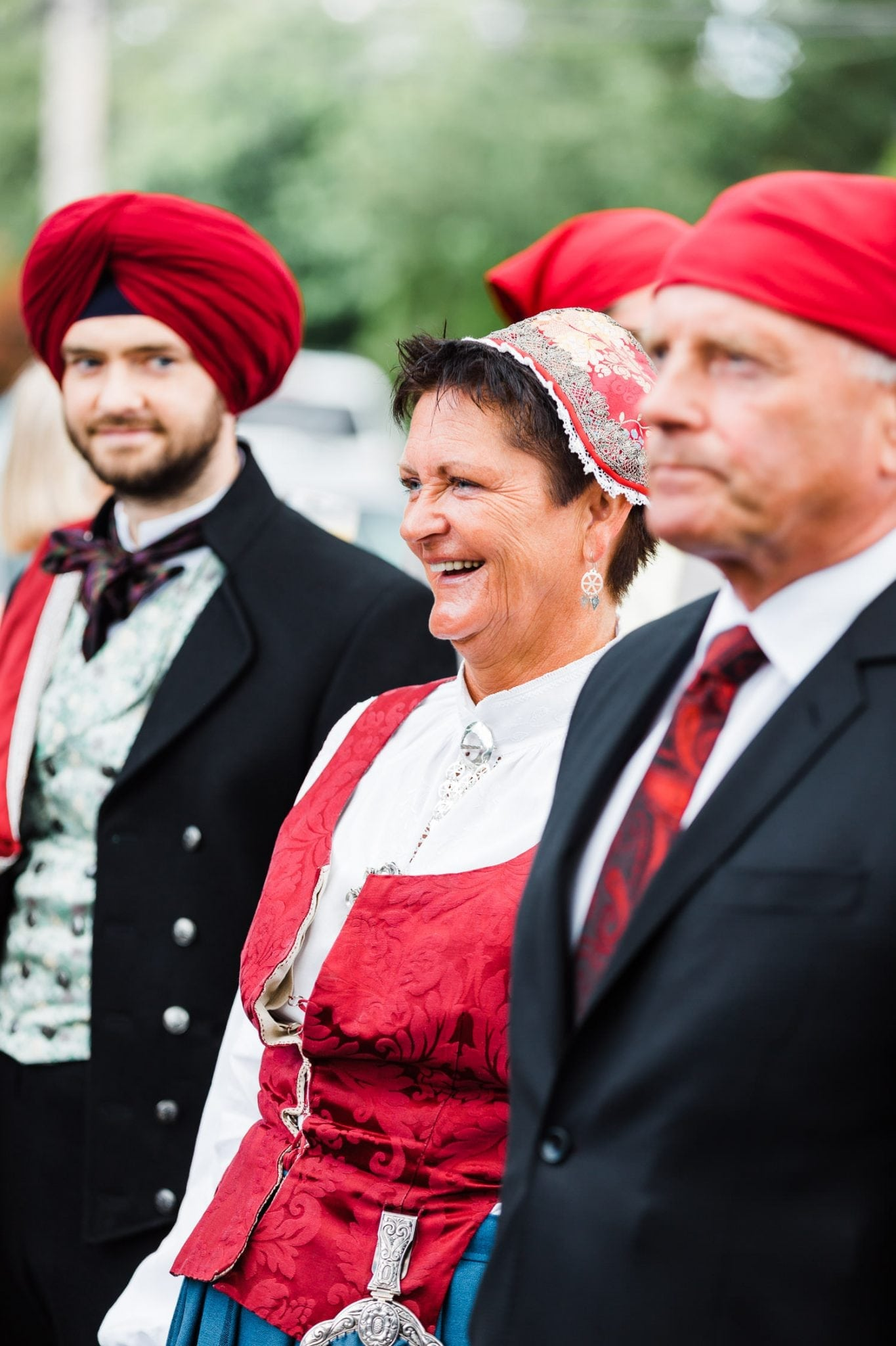 Smiling mother Indian and Norwegian wedding | Vancouver Indian wedding photographer