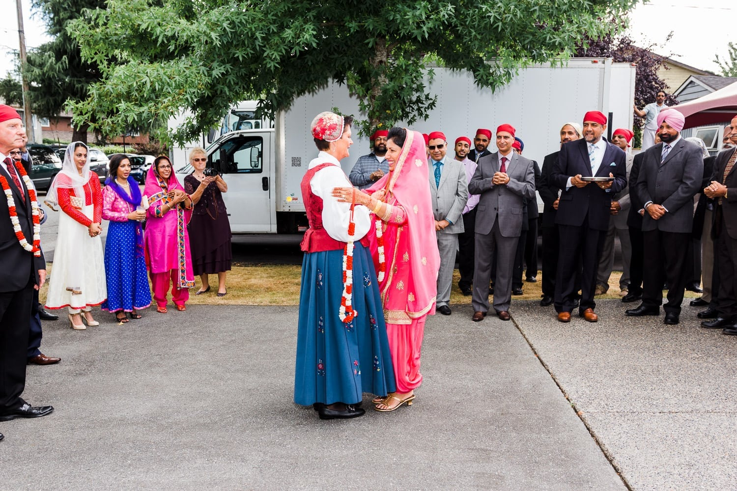 Milni ceremony, Indian and Norwegian wedding | Vancouver Indian wedding photographer