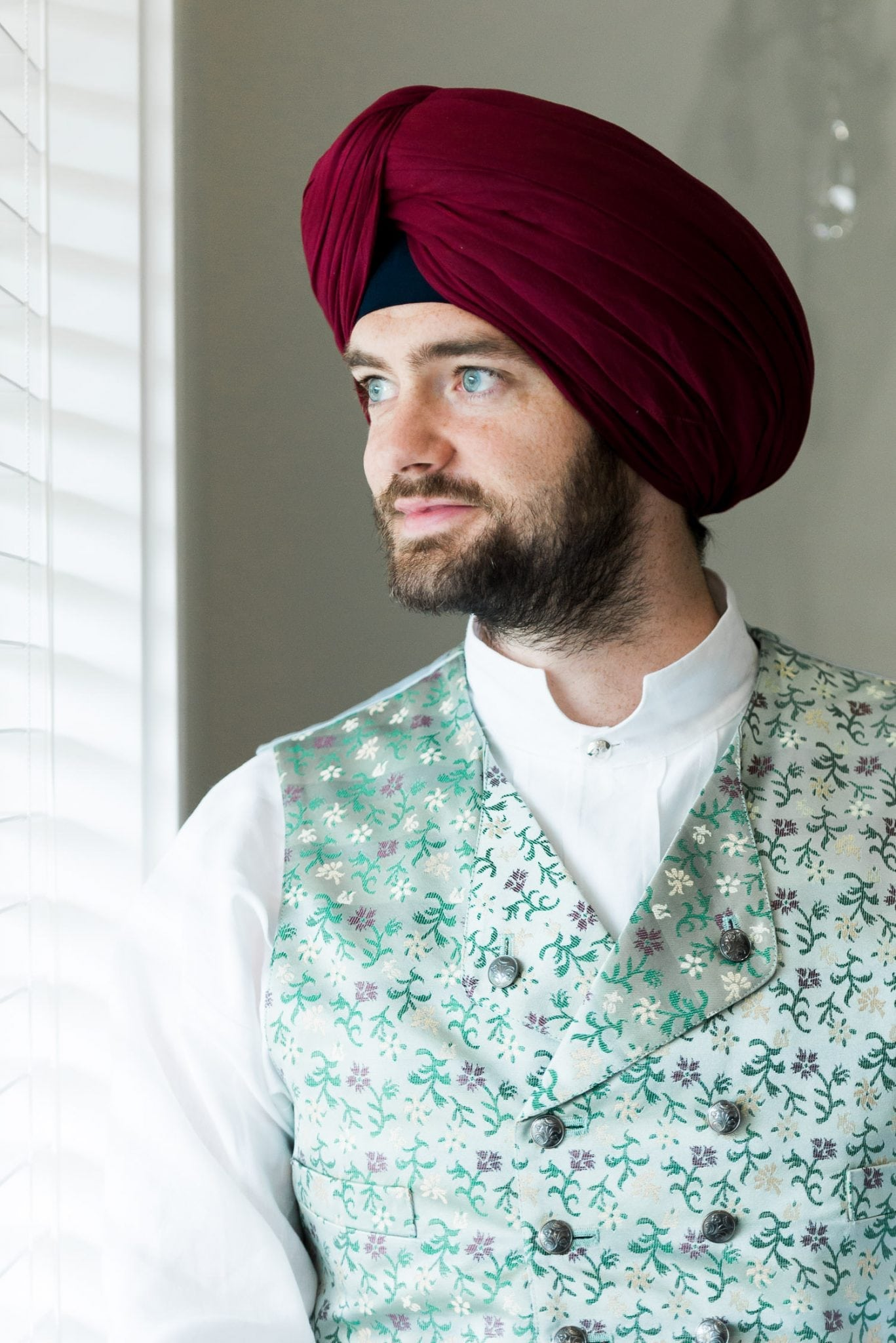 Indian and Norwegian wedding, portrait of a Norwegian groom | Vancouver Indian wedding photographer