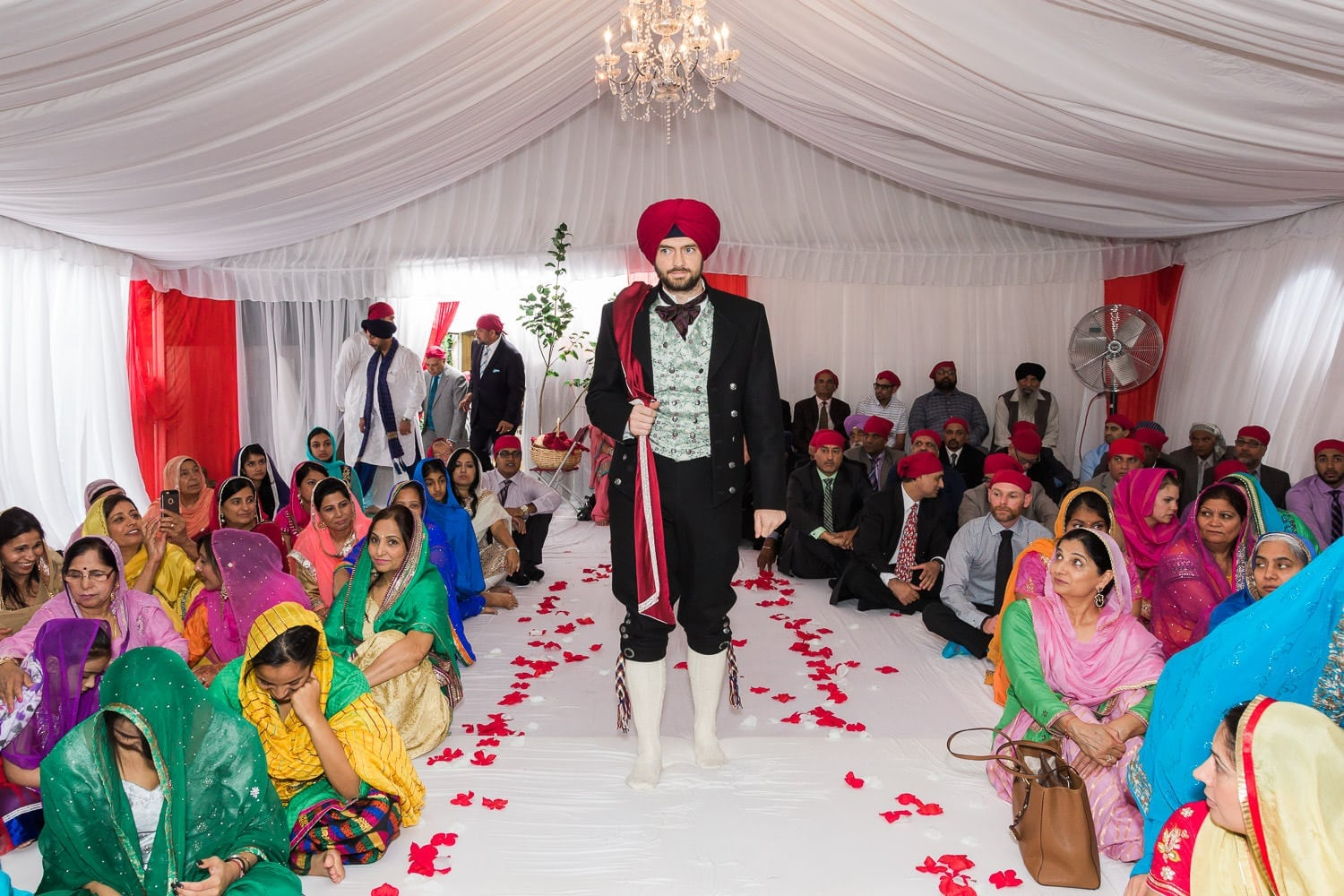 Grooms entrance, Indian and Norwegian wedding | Vancouver Indian wedding photographer