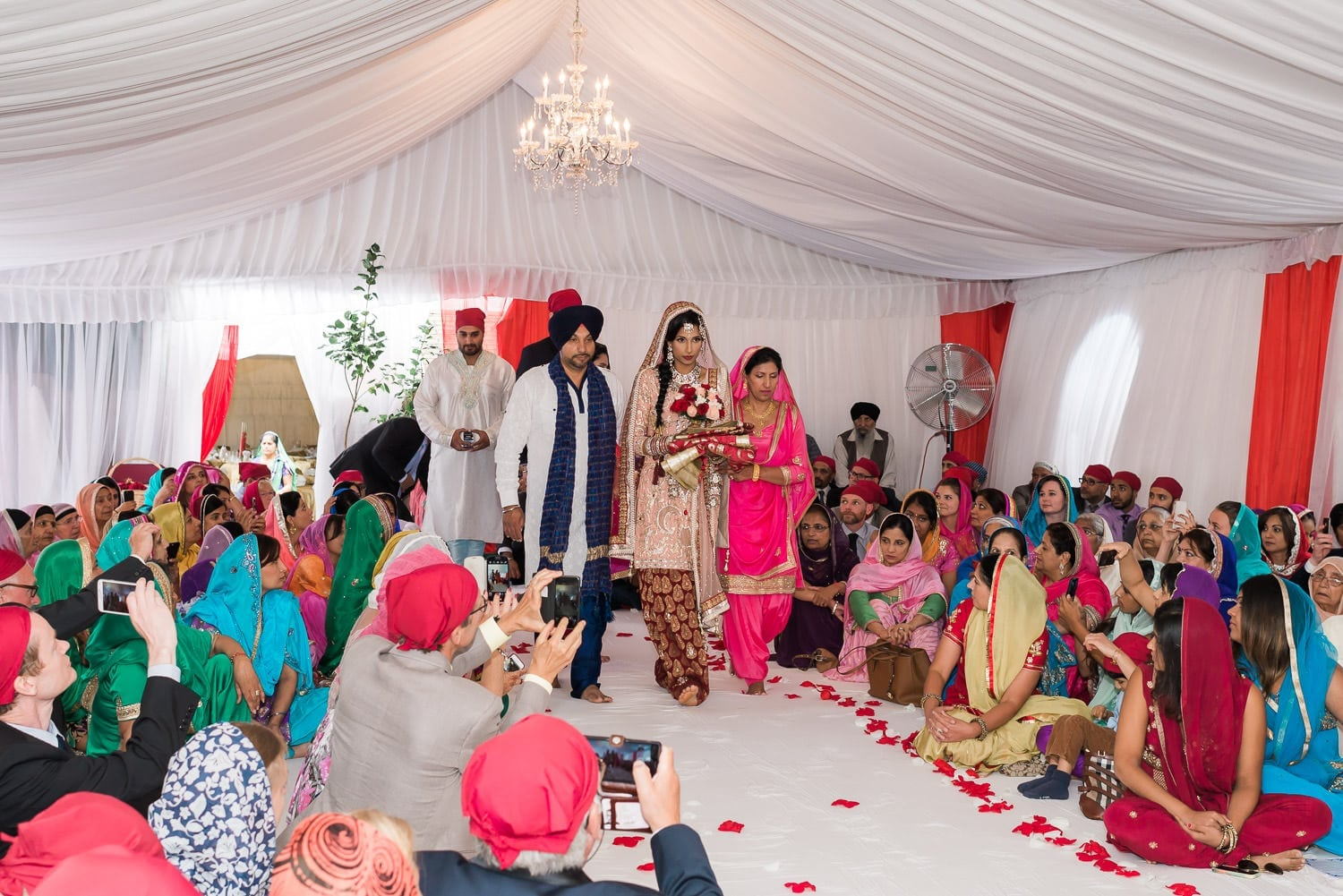 Brides entrance, Indian and Norwegian wedding | Vancouver Indian wedding photographer