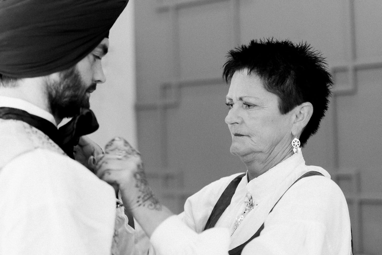 Indian and Norwegian wedding, groom and his mom | Vancouver Indian wedding photographer