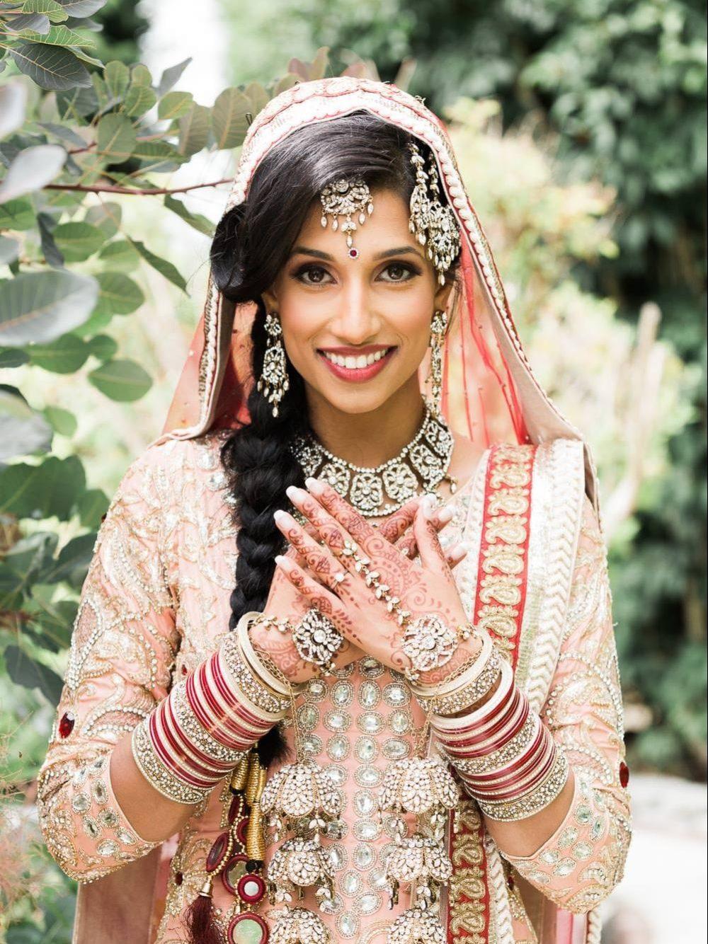 Indian bride portrait | Vancouver Indian wedding photographer