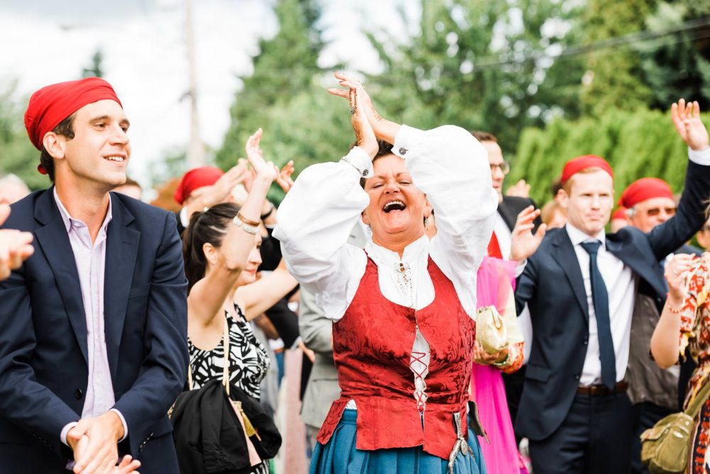 Dancing mother at the wedding | Vancouver Indian wedding photographer
