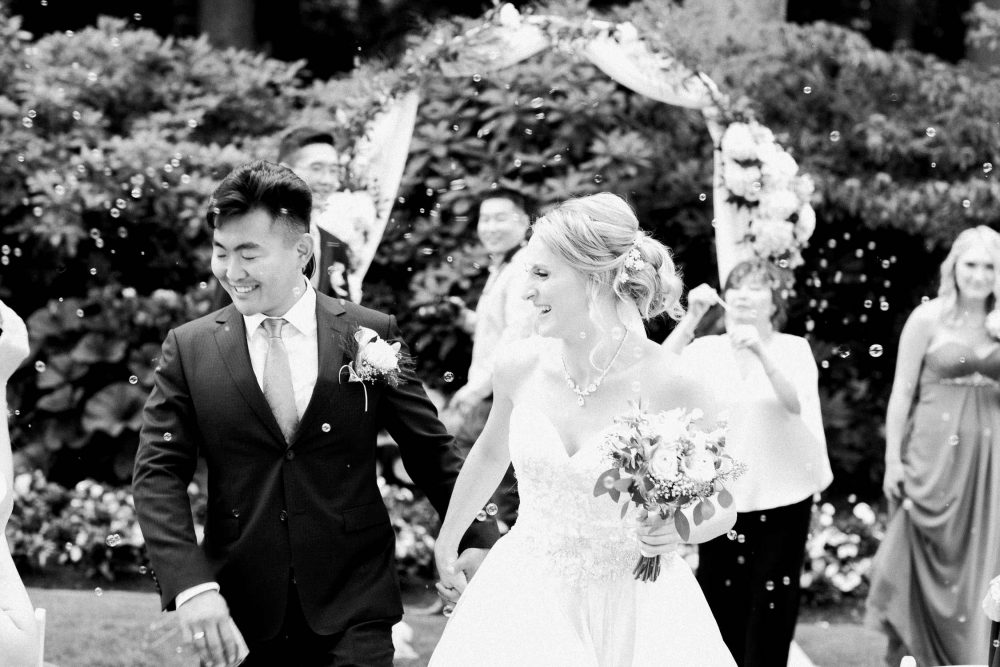 Bride and groom happy moment | Vancouver wedding photographer