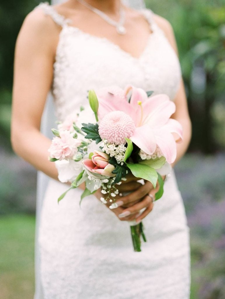 Bride with bouquet   Vancouver wedding film photographer