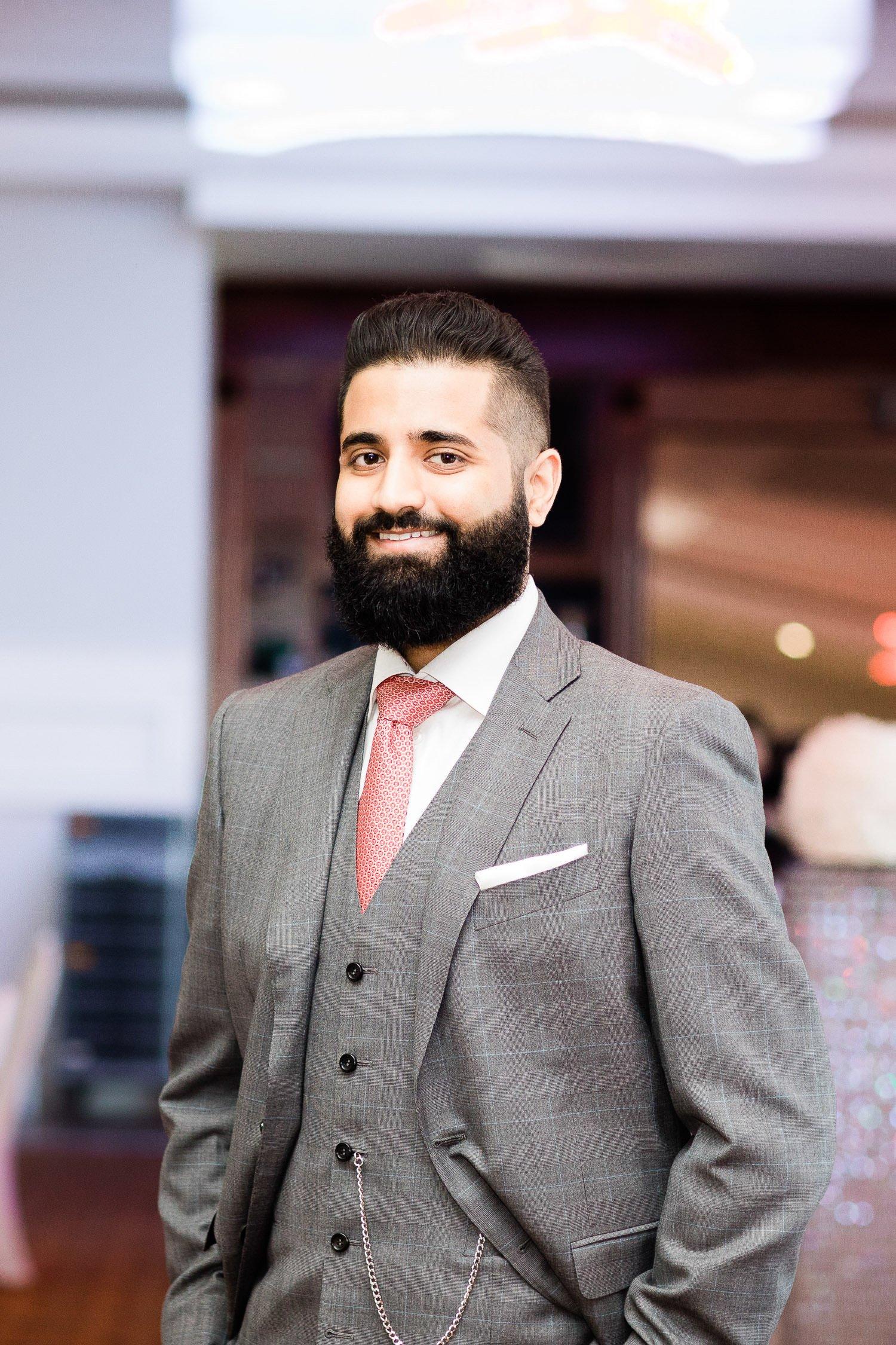 Indian groom posing