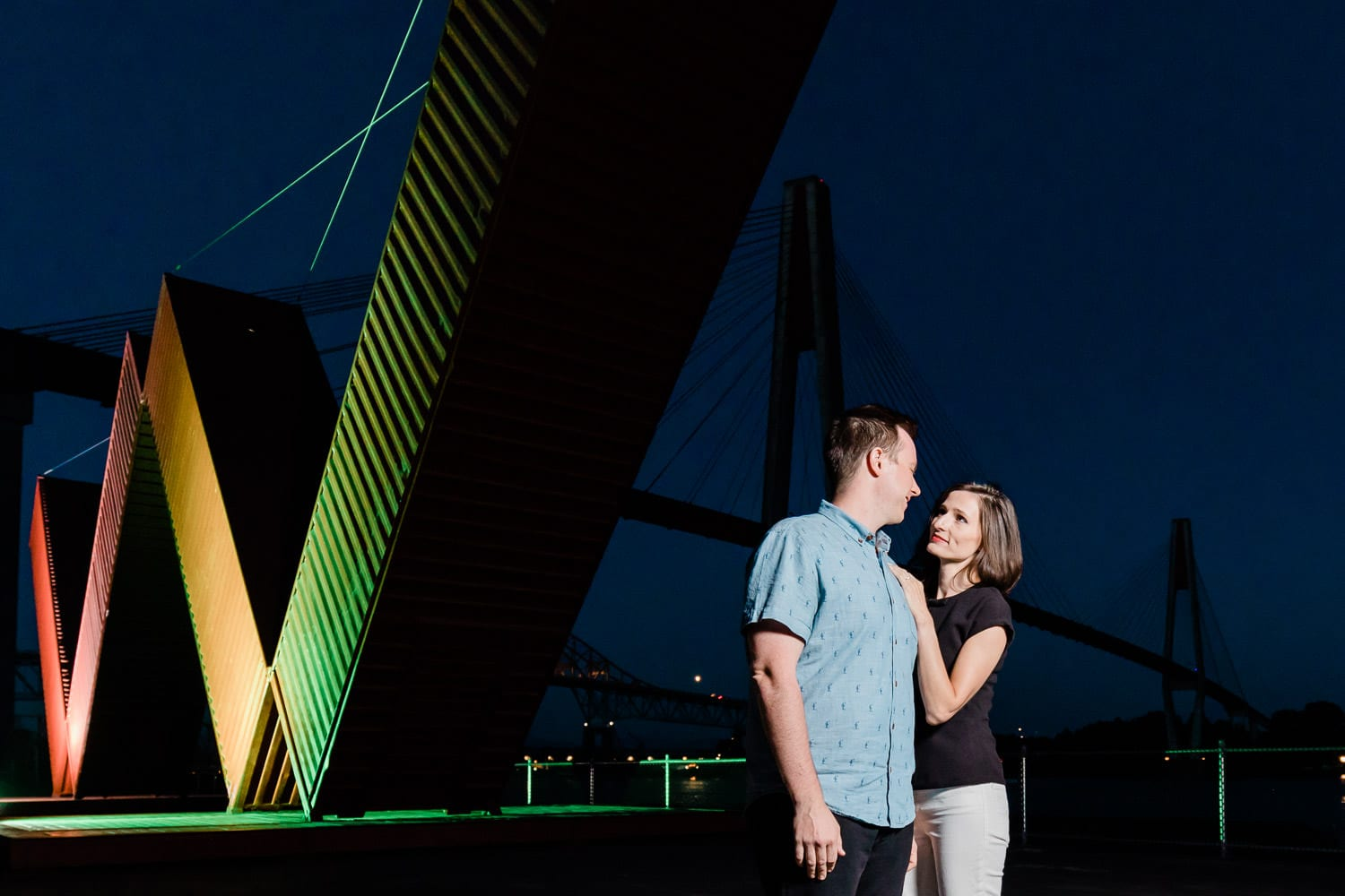 Engagement photo at Westminster Pier Park | Vancouver Fine Art Wedding Photographer