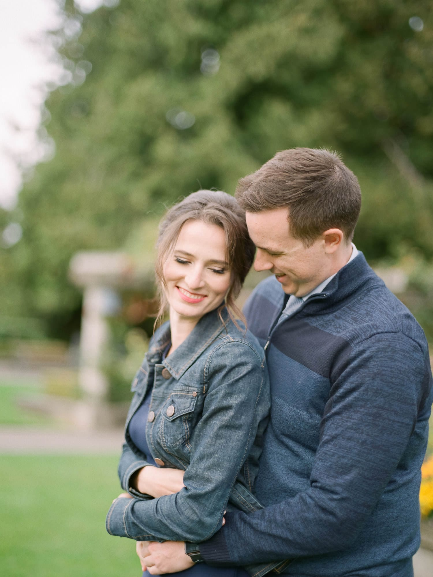 Engagement photo at UBC Rose Garden | Vancouver Fine Art Wedding Photographer
