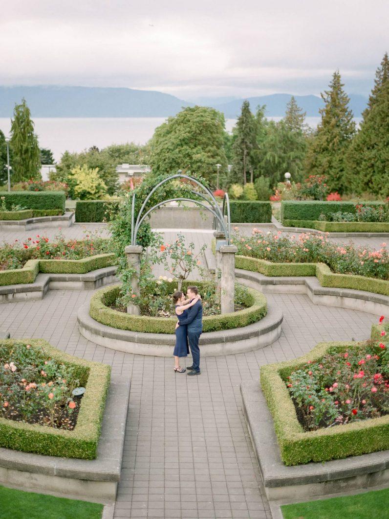 Elena&Garrett engagement, UBC Rose garden-7