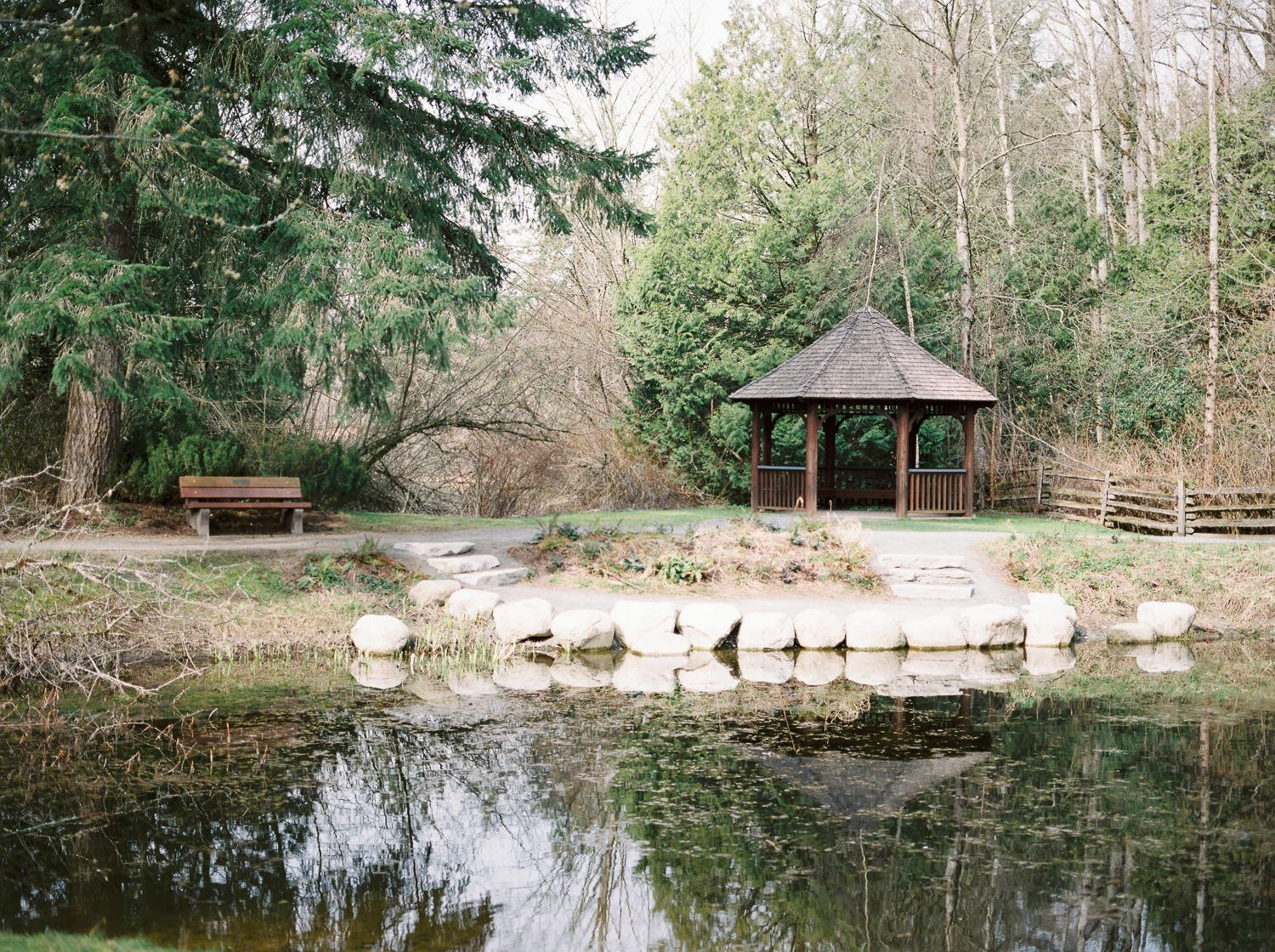 Gazebo and pond at Campbell Valley Park